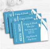 Turquoise Bride Personalised Wedding Bar Free Drink Tokens