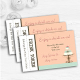 Classical Cake Personalised Wedding Bar Free Drink Tokens
