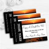 Florida Sunset Personalised Wedding Bar Free Drink Tokens