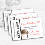 White Winter Personalised Wedding Bar Free Drink Tokens