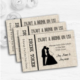Cotton Chic Personalised Wedding Bar Free Drink Tokens