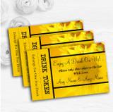 Sunflowers Personalised Wedding Bar Free Drink Tokens