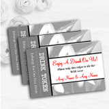 Grey Lily Personalised Wedding Bar Free Drink Tokens