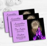 Disney Castle Fireworks Personalised Wedding Guest Information Cards