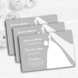 Great White Bride Personalised Wedding Guest Information Cards