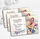 Music Treble Clef Personalised Wedding Guest Information Cards