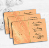 Peach Gold Pretty Personalised Wedding Guest Information Cards