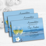 Wine On The Beach Personalised Wedding Guest Information Cards