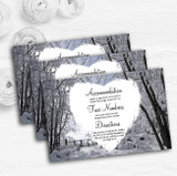 Winter Snow Scene Personalised Wedding Guest Information Cards