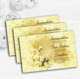 Yellow Cream Lace Personalised Wedding Guest Information Cards