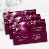 Beautiful Purple Personalised Wedding Guest Information Cards
