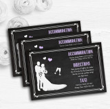Chalkboard Lilac Personalised Wedding Guest Information Cards