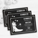 Chalkboard White Personalised Wedding Guest Information Cards