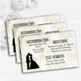 Cream Roses Chic Personalised Wedding Guest Information Cards