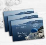 Greece Santorini Personalised Wedding Guest Information Cards