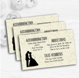 Traditional Chic Personalised Wedding Guest Information Cards
