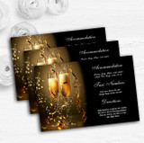 Black Champagne Personalised Wedding Guest Information Cards