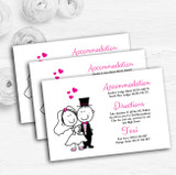 Bride And Groom Personalised Wedding Guest Information Cards