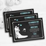 Chalkboard Aqua Personalised Wedding Guest Information Cards