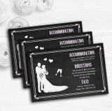 Chalkboard Pink Personalised Wedding Guest Information Cards