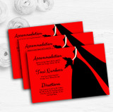 Red Black Bride Personalised Wedding Guest Information Cards