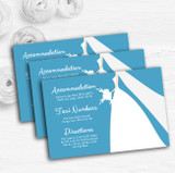 Turquoise Bride Personalised Wedding Guest Information Cards