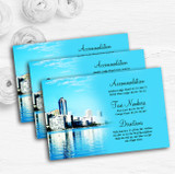 Miami Florida Personalised Wedding Guest Information Cards