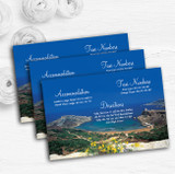 Malta Abroad Personalised Wedding Guest Information Cards