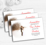 White Winter Personalised Wedding Guest Information Cards