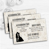 Damask Chic Personalised Wedding Guest Information Cards