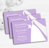 Lilac Bride Personalised Wedding Guest Information Cards