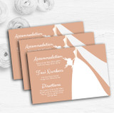 Peach Bride Personalised Wedding Guest Information Cards