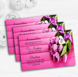 Pink Tulips Personalised Wedding Guest Information Cards