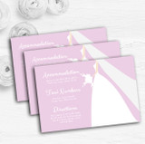 Pink Bride Personalised Wedding Guest Information Cards