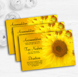 Sunflowers Personalised Wedding Guest Information Cards