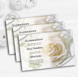 White Rose Personalised Wedding Guest Information Cards