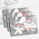 Grey Lily Personalised Wedding Guest Information Cards