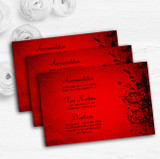 Red Flare Personalised Wedding Guest Information Cards
