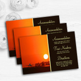 New York Personalised Wedding Guest Information Cards