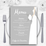 Great White Bride Personalised Wedding Menu Cards