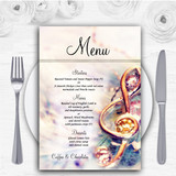 Music Treble Clef Personalised Wedding Menu Cards