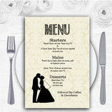 Traditional Chic Personalised Wedding Menu Cards