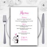 Bride And Groom Personalised Wedding Menu Cards