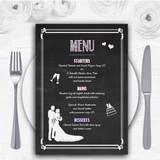 Chalkboard Pink Personalised Wedding Menu Cards