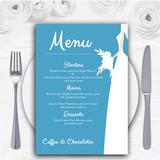 Turquoise Bride Personalised Wedding Menu Cards