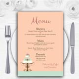Classical Cake Personalised Wedding Menu Cards