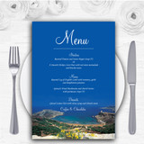 Malta Abroad Personalised Wedding Menu Cards