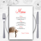 White Winter Personalised Wedding Menu Cards
