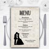 Damask Chic Personalised Wedding Menu Cards