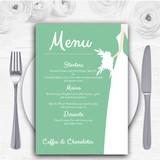 Green Bride Personalised Wedding Menu Cards